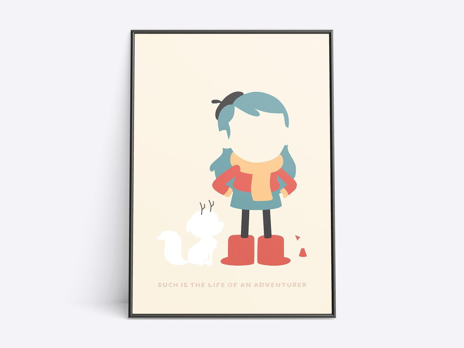 Hilda art print in minimalist style