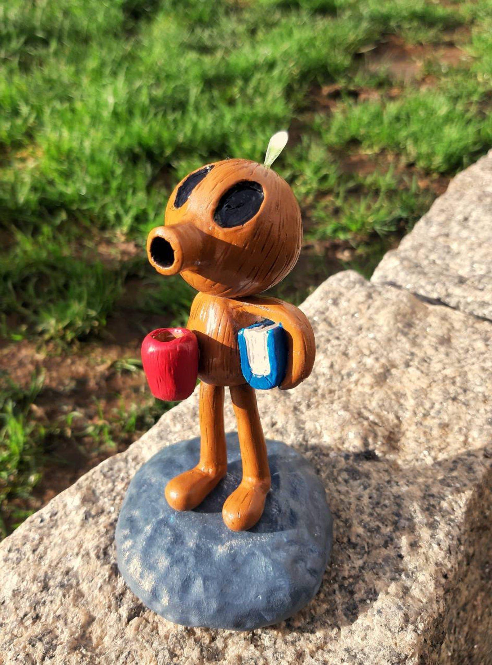 Wood Man figure from Hilda comic