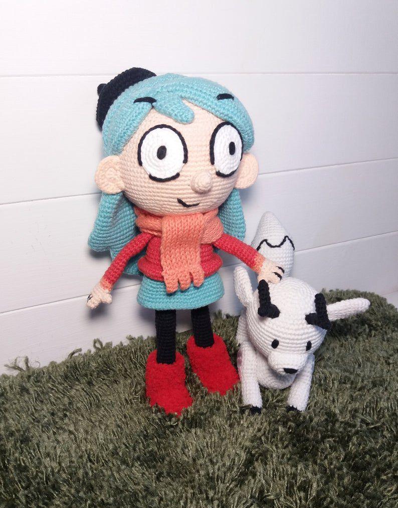 Hilda and Twig crocheted dolls