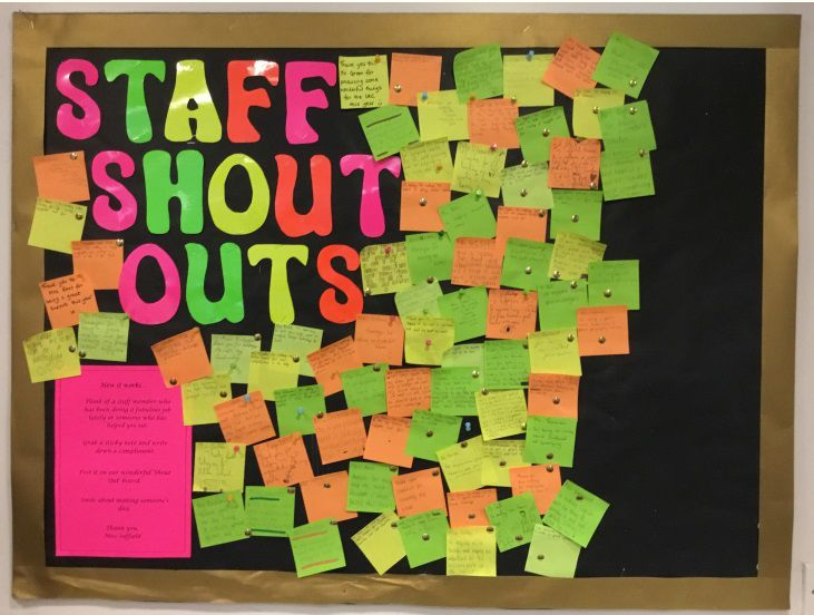 Staff Shout Out Display