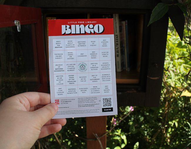 Little Free Library bingo card