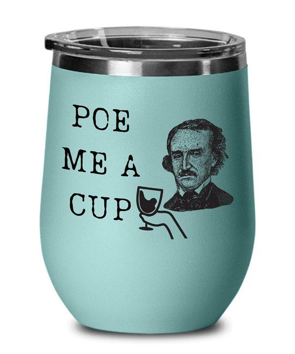 Edgar Allen Poe Wine Tumbler