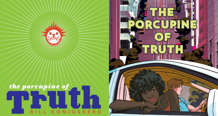 Original and paperback Porcupine of Truth covers