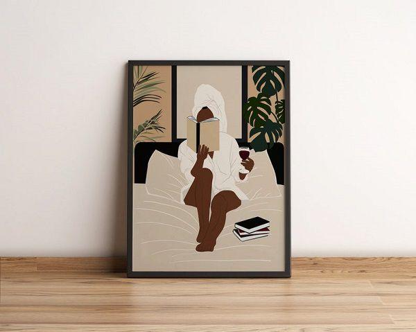Woman Reading Wall Art