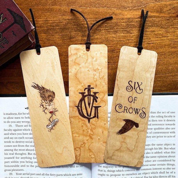 Six of Crows wooden bookmarks