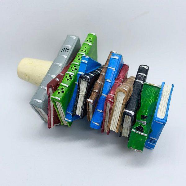 bookstack wine stopper