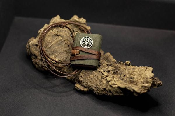 Tree of Life Miniature Book Necklace