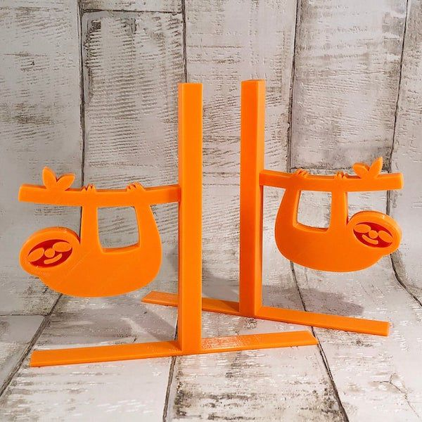 Image of orange sloth bookends