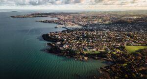 birds eye view of the northern ireland coastline