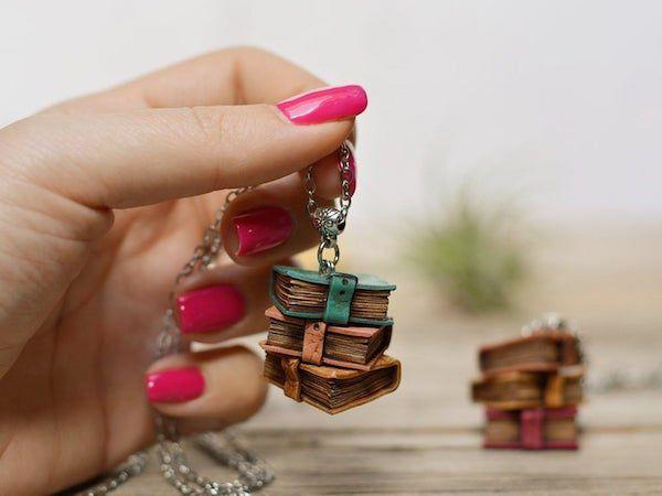 book stack pendant