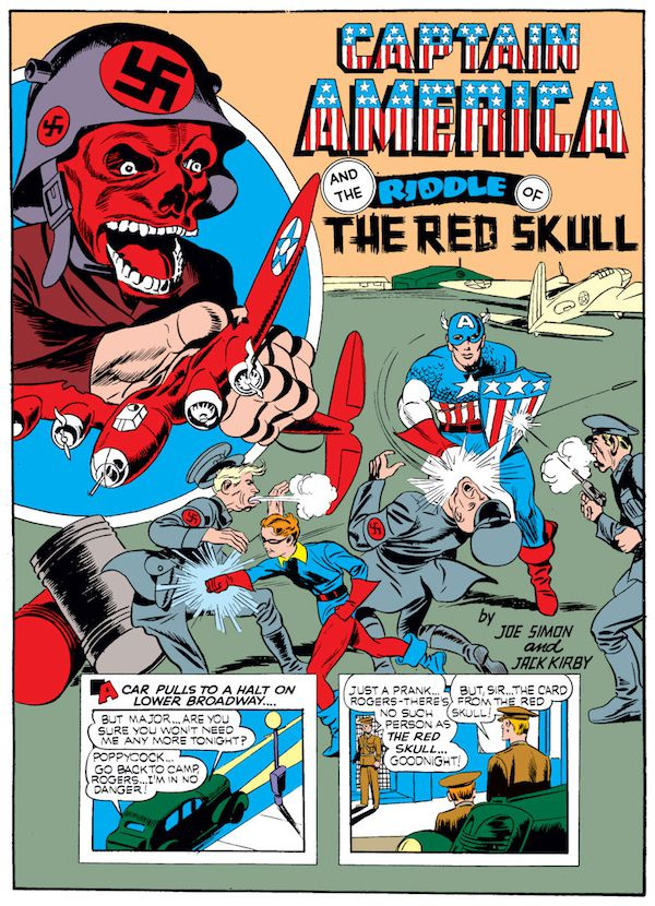 opening page for Case #4: Captain America and the Riddle of the Red Skull from Captain America Comics #1