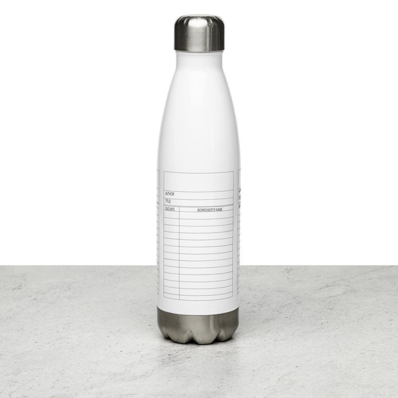 Library Cash Card Water Bottle