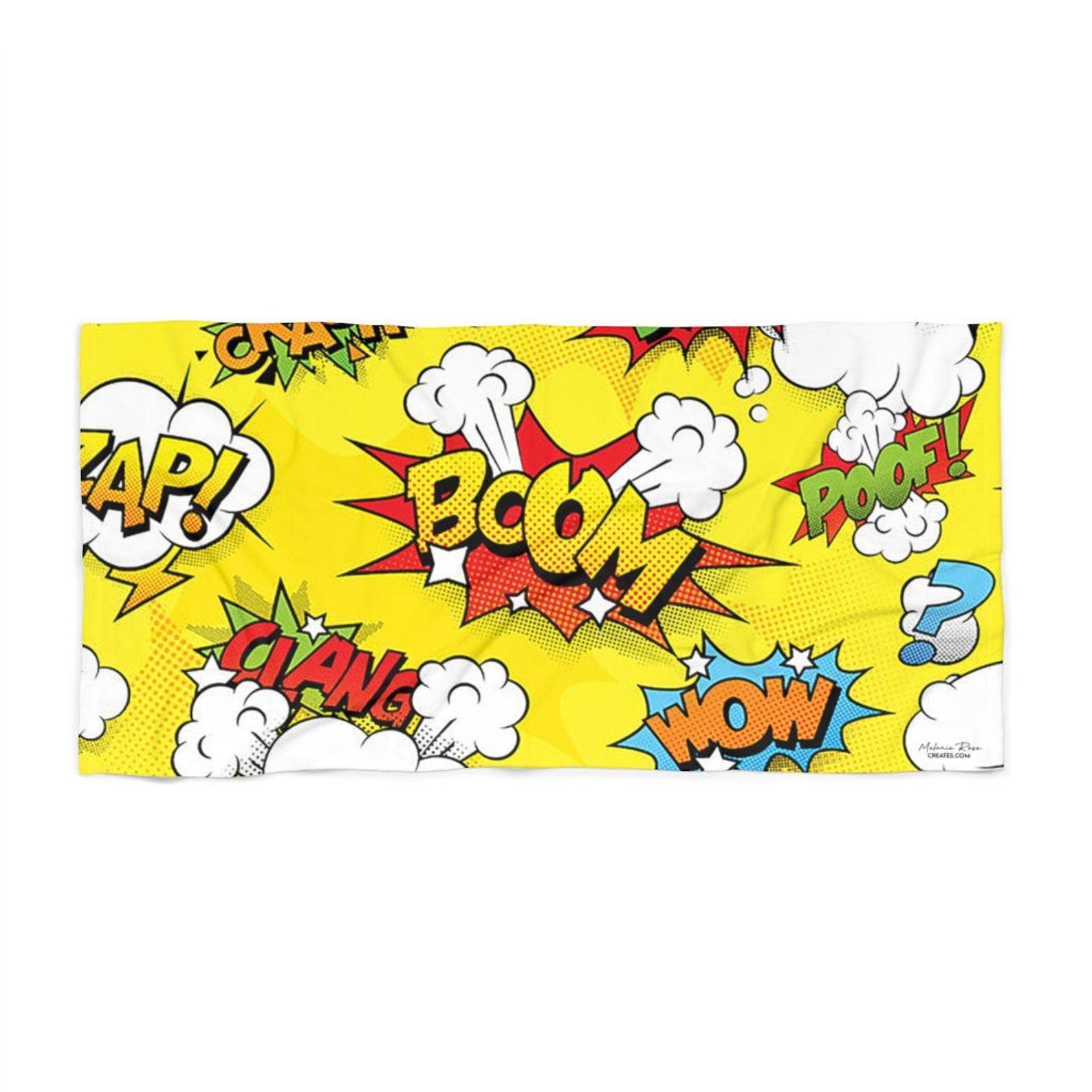Cartoon Sound Effects Printed Towel