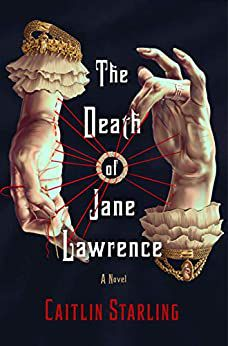 """book cover with two hands and the title """"The Death of Jane Lawrence"""""""