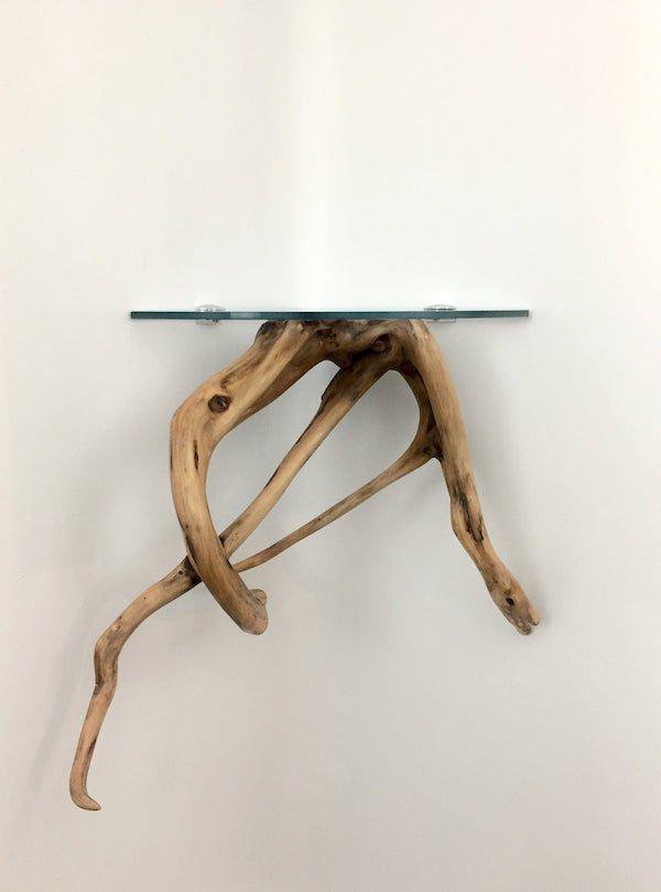 driftwood glass shelf