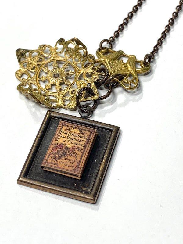 hidden book necklace