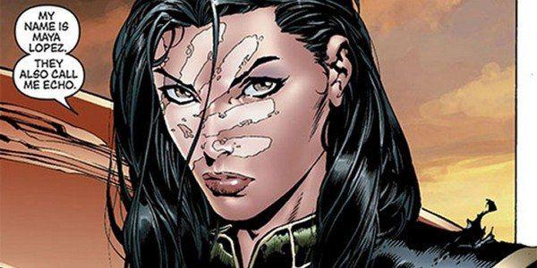 "Image of Maya Lopez AKA Ronin AKA Echo from ""New Avengers #13"" as indigenous superheroes"