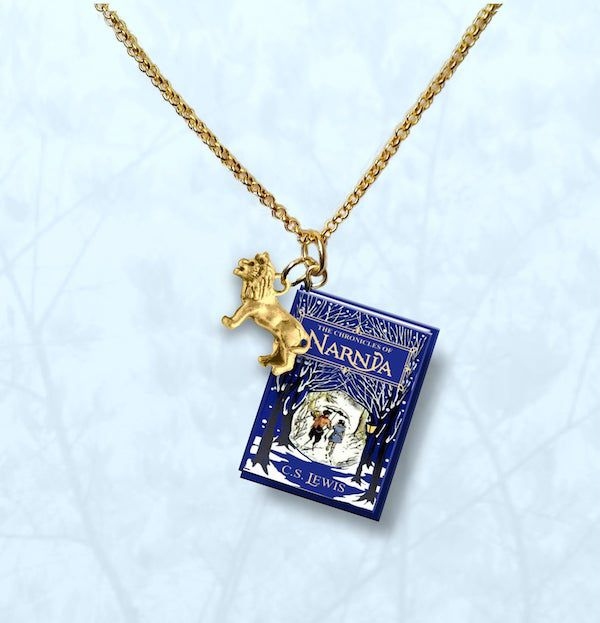 narnia necklace with lion charm