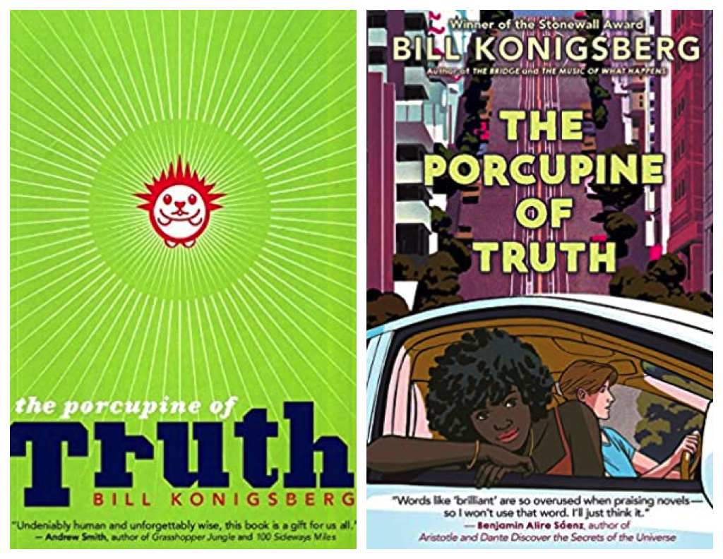 Porcupine of Truth hardcover and paperback covers