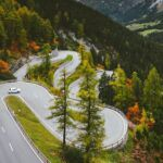 road trip feature of a winding road