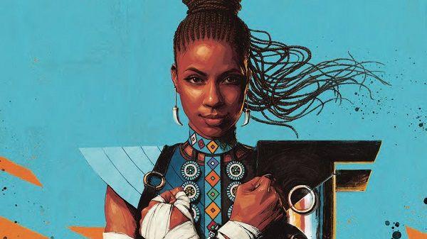 "Image from cover of ""Shuri"" (2018) Vol. 1 written by Nnedi Okorafor and art by Leonardo Romero"