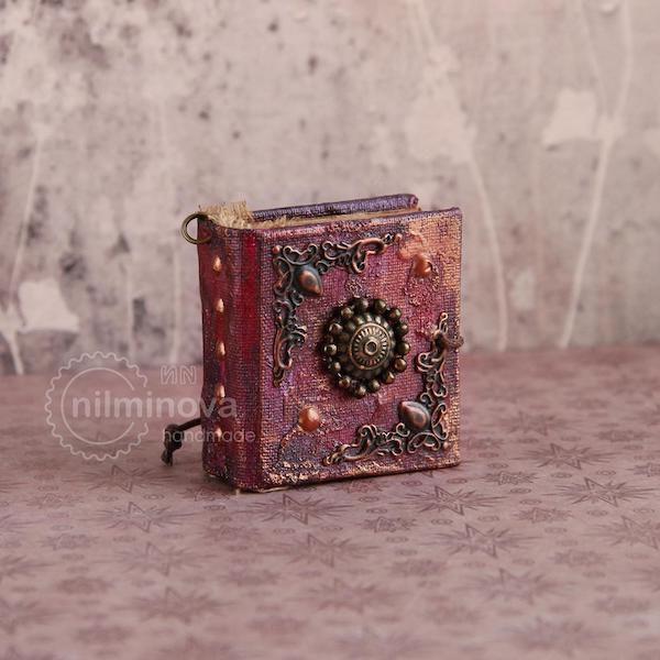 square book pendant