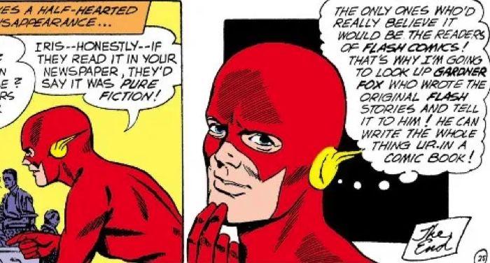 the flash comics panel