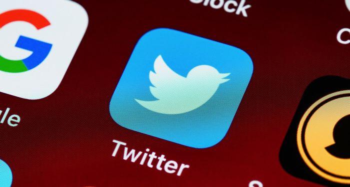 twitter social media app on device screen