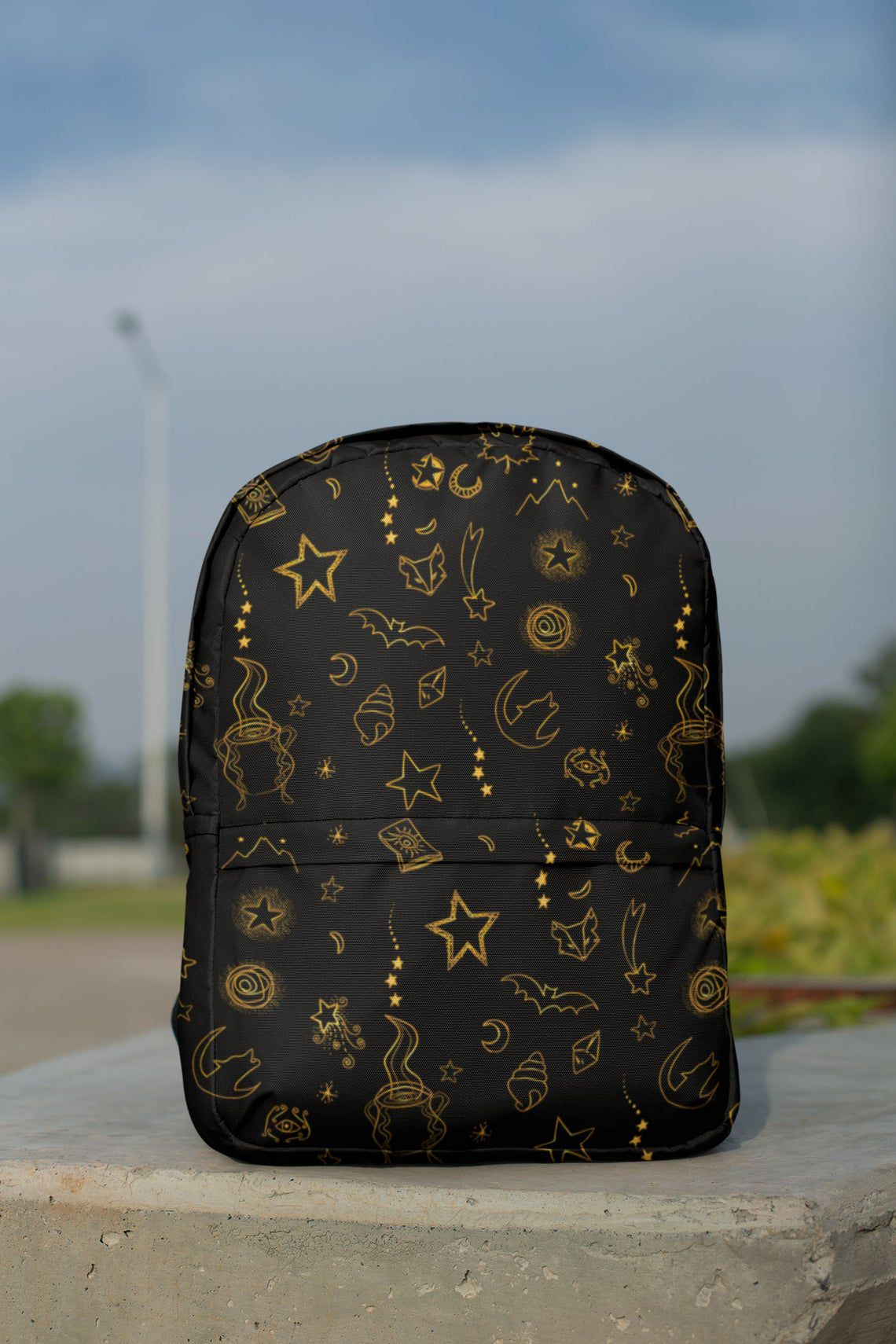 black and gold ACOTAR backpack