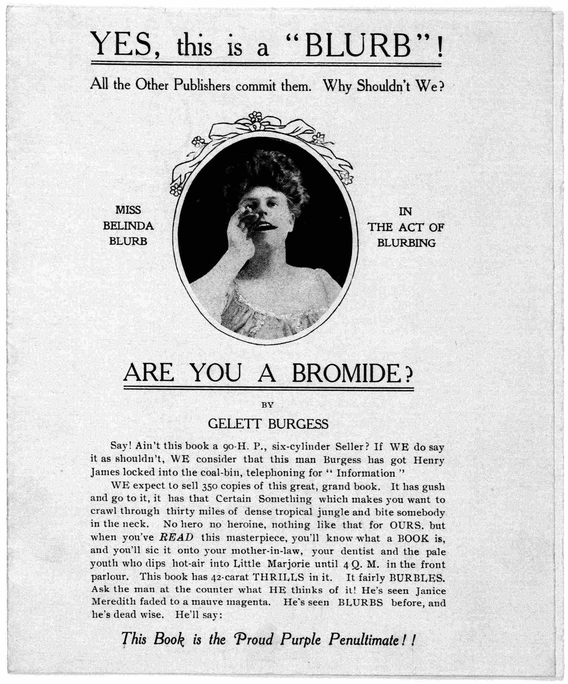 Jacket of Are You a Bromide? by Gelett Burgess; Library of Congress, Rare Book and Special Collections Division, Printed Ephemera Collection. https://www.loc.gov/resource/rbpe.24203600/?sp=1