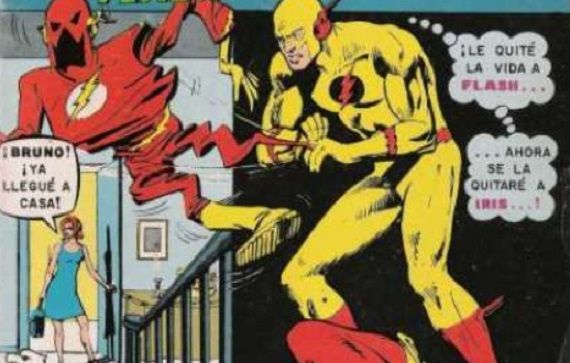 Iris walks into her home, calling for her husband. The Reverse Flash is there, saying he has killed Flash and will now kill Iris.