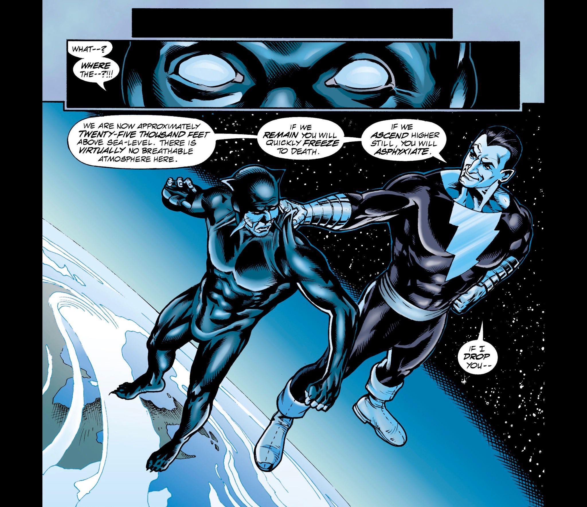image from JSA 17, Black Adam vs Wildcat