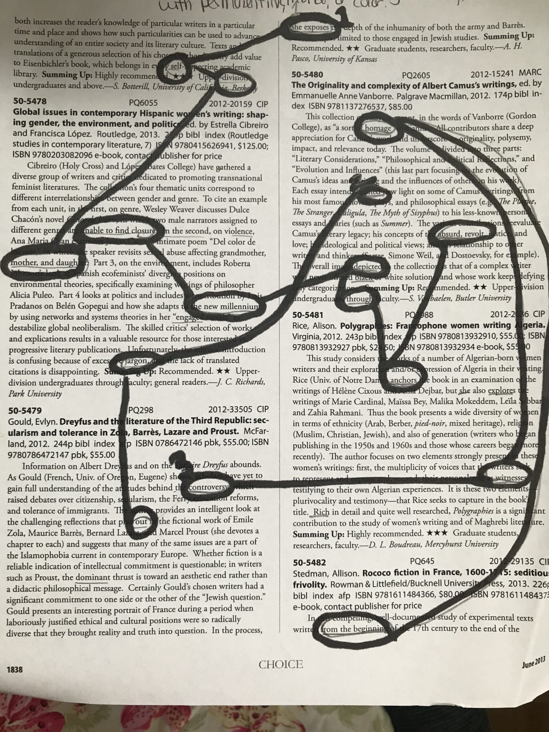 Example of mapping black out poetry.