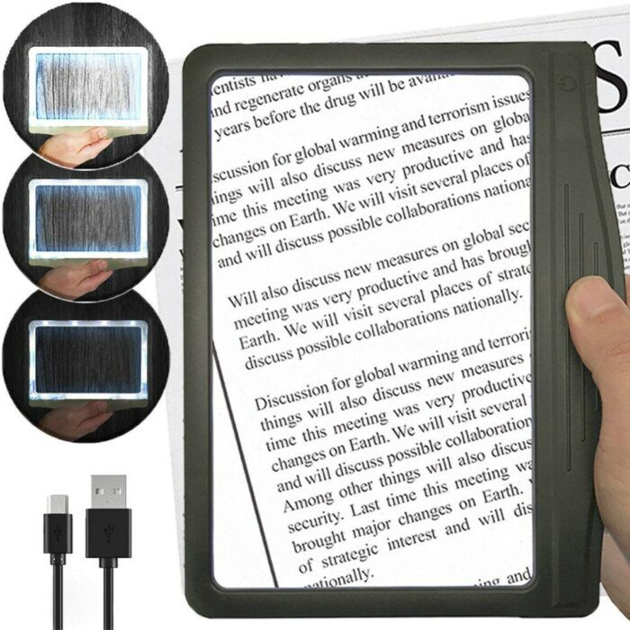 Device that lights and magnifies books