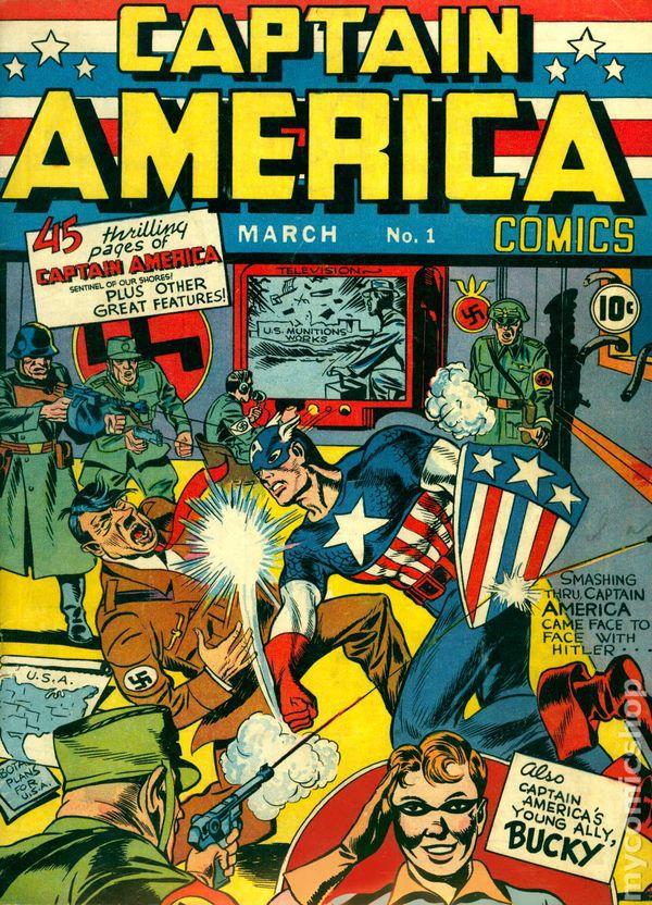 cover image of Captain America Comics #1