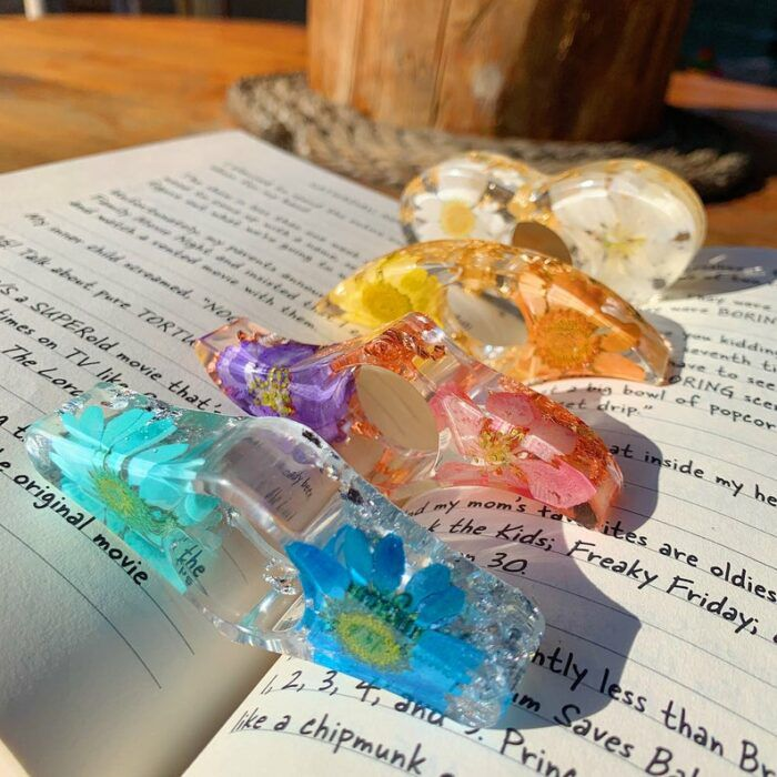 resin book page holders
