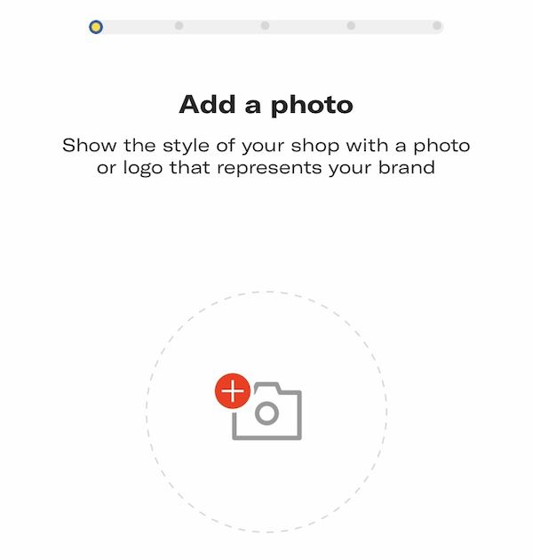 Depop App Profile Setup Screen