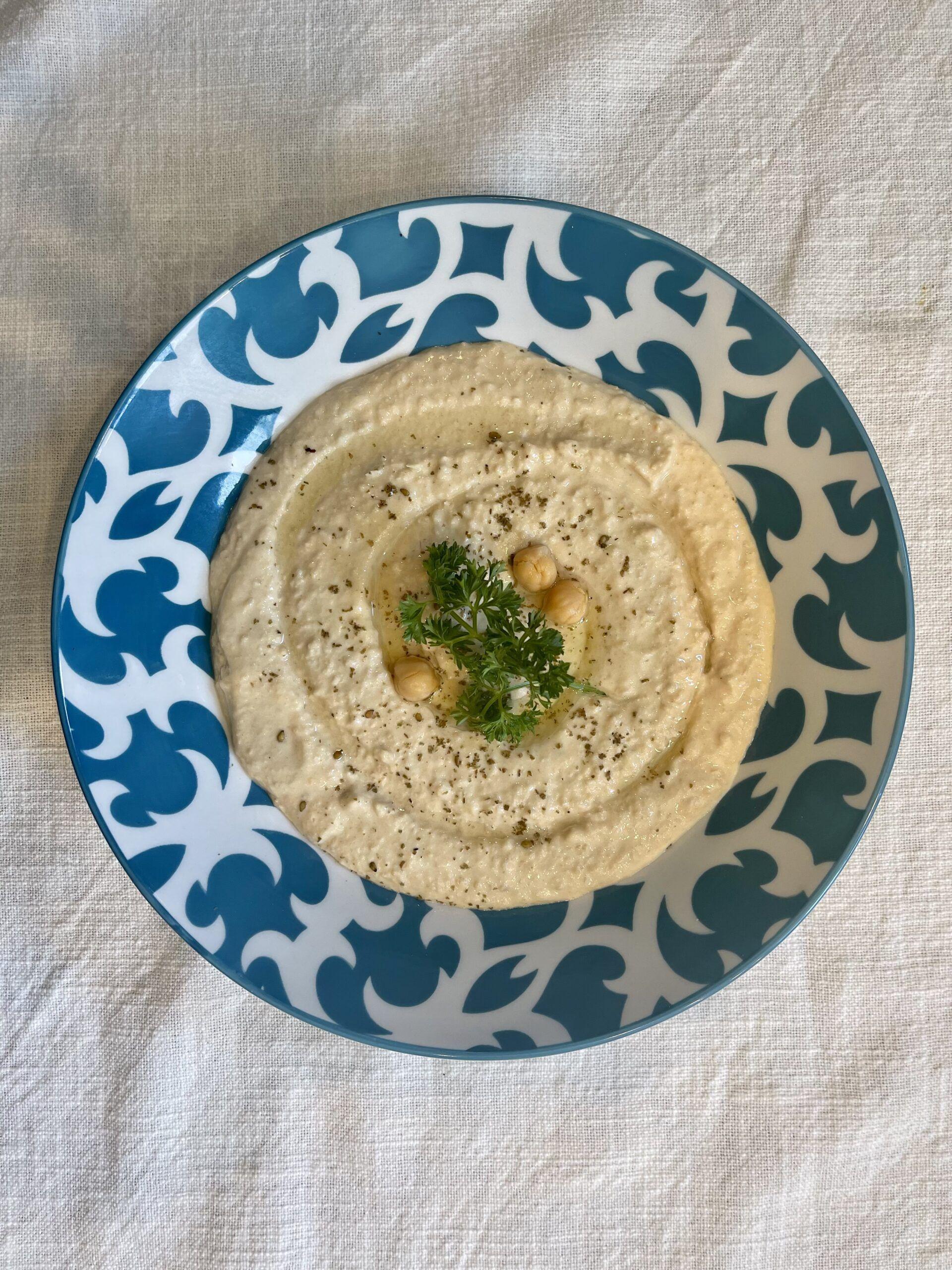 Sample hummus from Zaitoun
