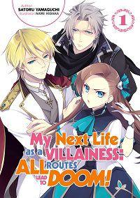 My Next Life as a Villainess 1 cover - Satoru Yamaguchi