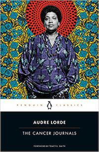 A graphic of the cover of The Cancer Journals by Audre Lorde