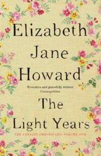 Book cover for The Light Years, showing the author name and title against a pale yellow background with flowers painted around the outer edge.