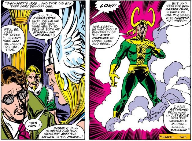 In Asgard, Hobbs confesses how he snuck in. Loki appears in a cloud of smoke to brag about his role in the plot.