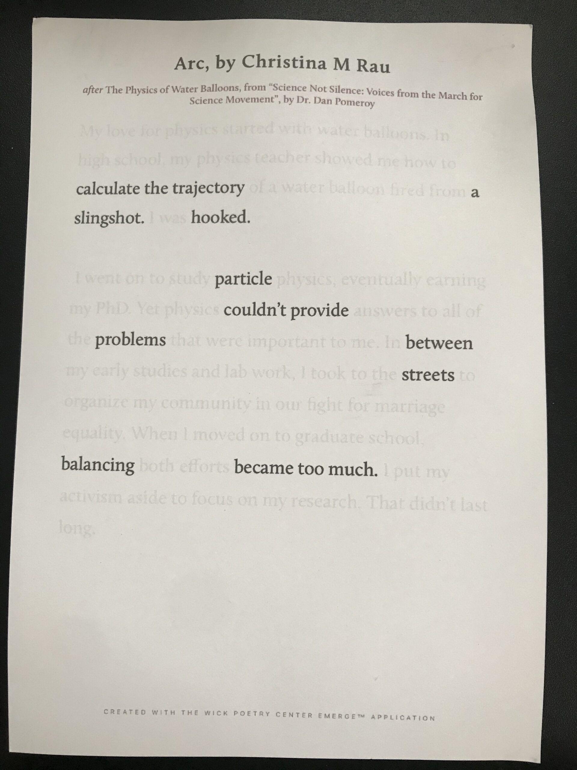 Example of digital blackout poetry.