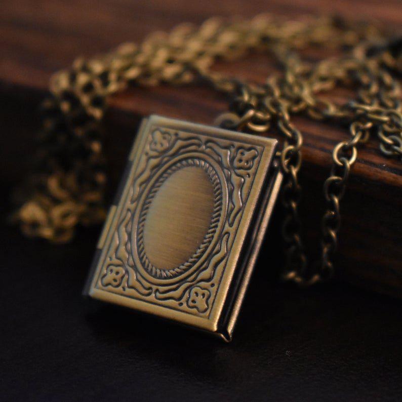 Image of book-shaped locket.