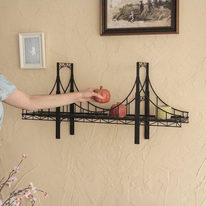 Bridge-shaped metal rack