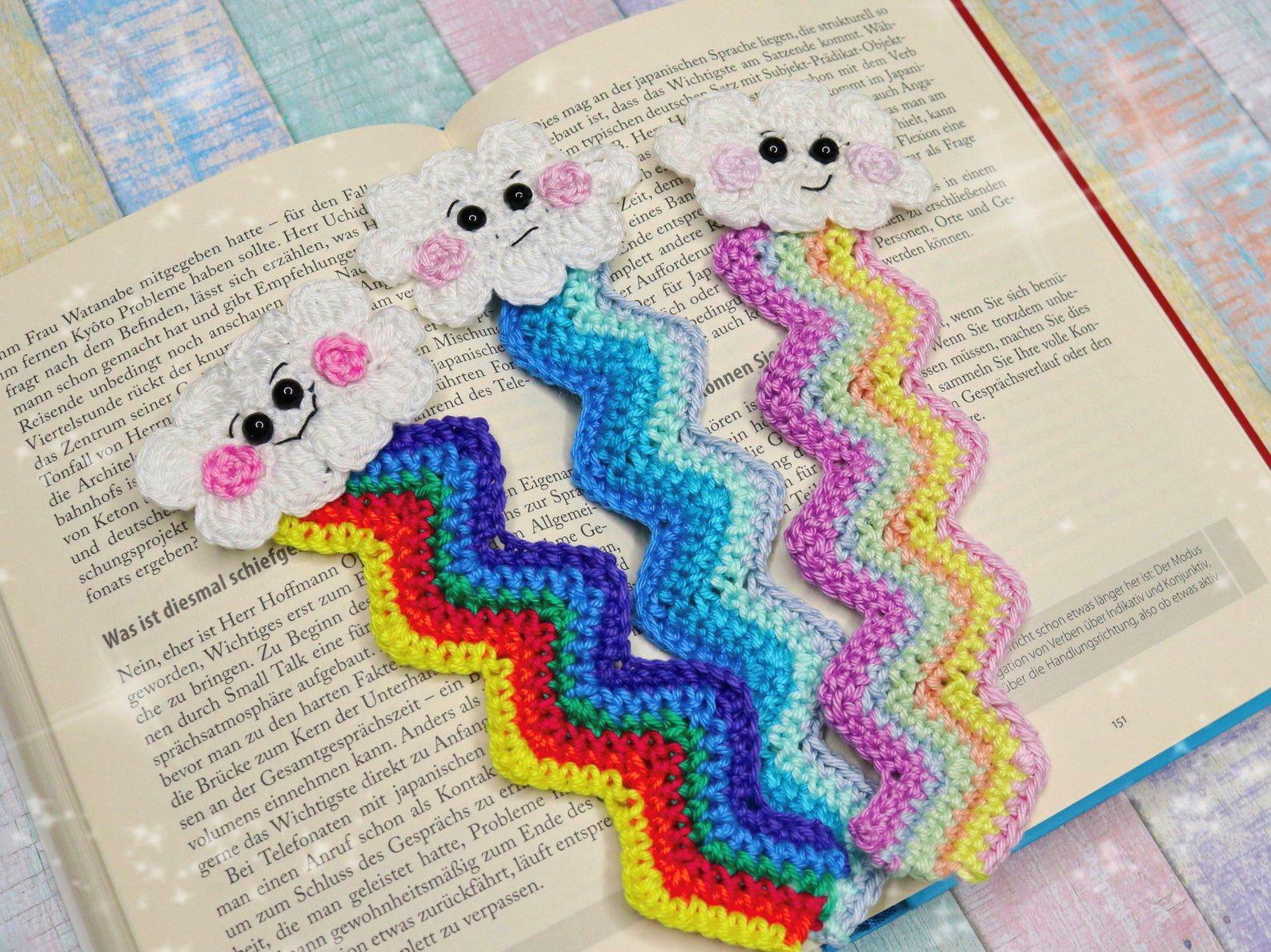 DIY etsy cloud crochet bookmark pattern