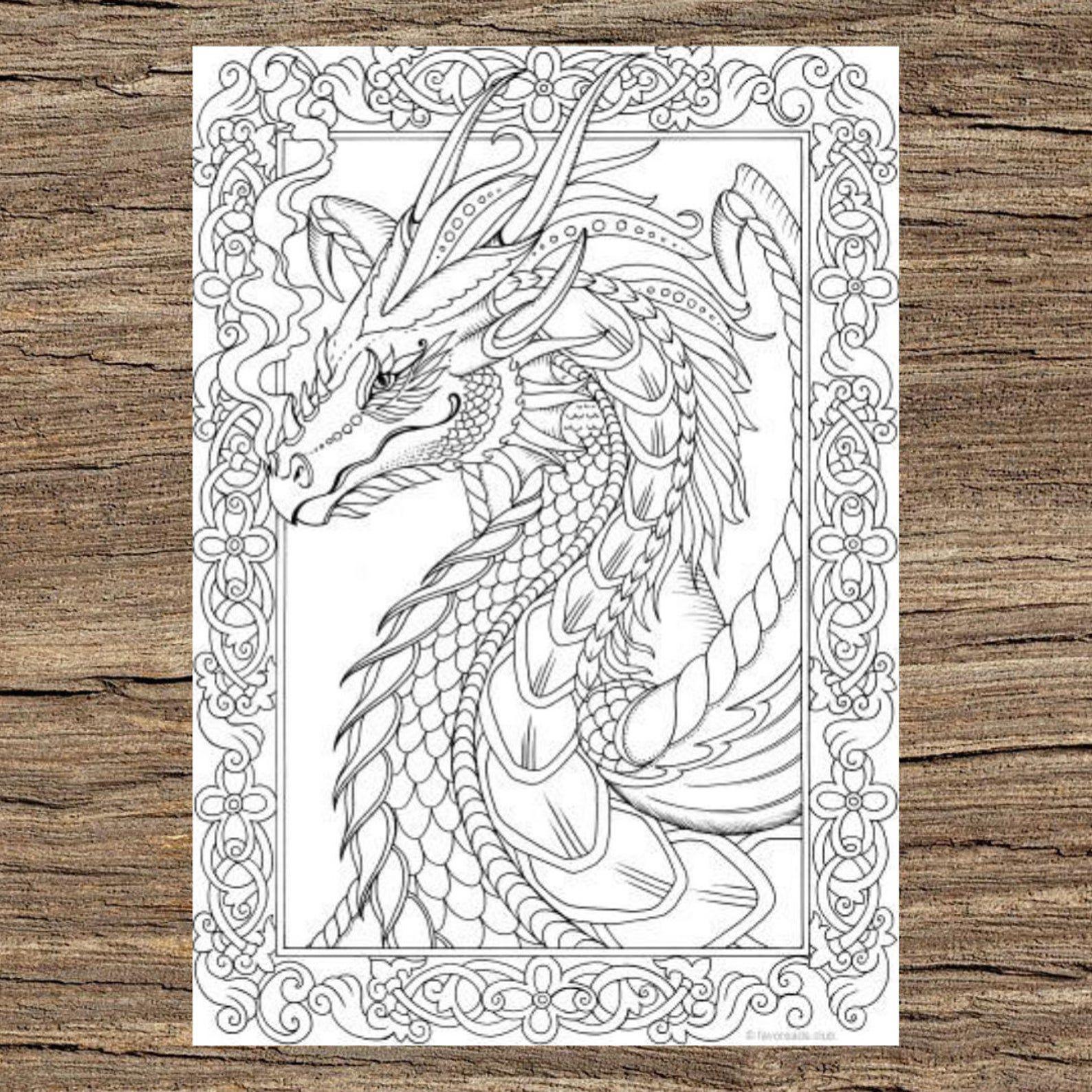 dargon coloring book design