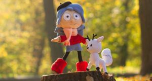 fleecey Hilda and Twig dolls