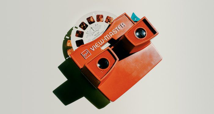 Image of a red viewmaster
