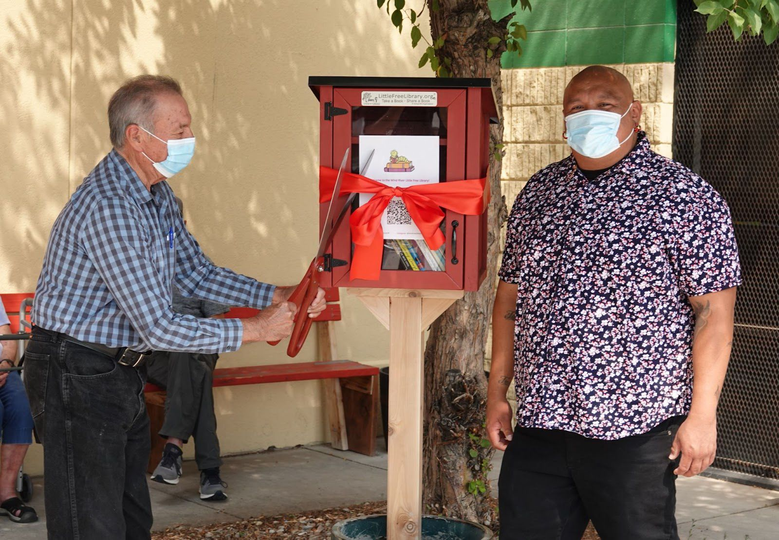 Image of Ribbon Cutting, provided by Little Free Library.